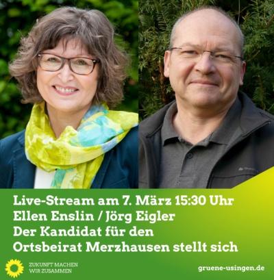 Live-Stream: Der Kandidat für den Ortsbeirat Merzhausen stellt sich @ Online, ein direkter Link befindet sich unten, unter dem Text zur Veranstaltung!