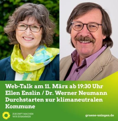 Web-Talk: Durchstarten zur klimaneutralen Kommune @ Online, ein direkter Link befindet sich unten, unter dem Text zur Veranstaltung!