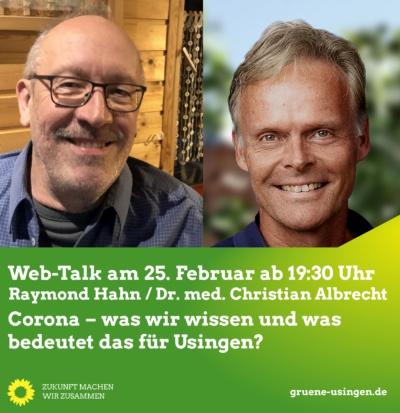 Web-Talk: Corona – was wir wissen und was bedeutet das für Usingen? @ Online, ein direkter Link befindet sich unten, unter dem Text zur Veranstaltung!